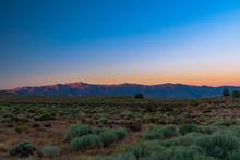Sunset Over The Sierra Nevada ...