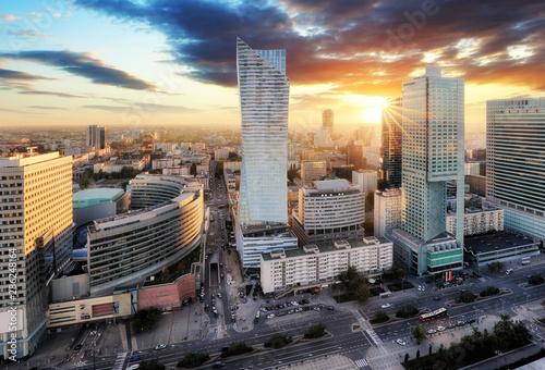 Fototapety, obrazy: Sunset panorama of Warsaw, capital of Poland, Europe