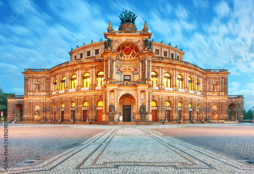 Dresden - Germany - Semper opera in the night - 286248516