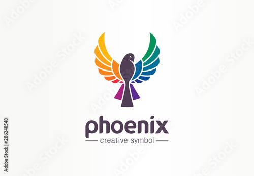 Color Phoenix Creative Symbol Concept Freedom Beautiful