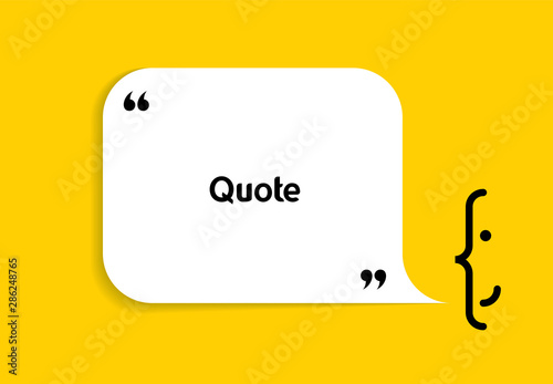 Fotografía  White speech bubble shape and smile on yellow background
