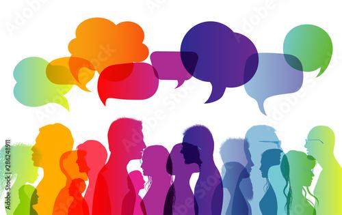 Fototapeta  Dialogue group of diverse people