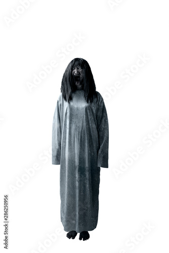 Photo Scary ghost woman with blood and angry face