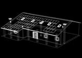 Fototapeta Sport - House with solar panels