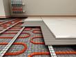 Leinwanddruck Bild - Ground heating system structural detail. 3D illustration