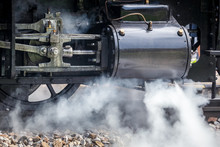 Detail Of Steam Discharge From Historical Locomotive.