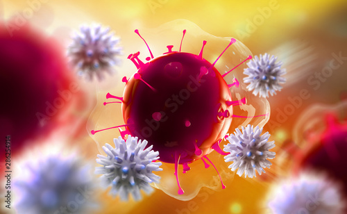 Immune system fights viral infections in body Wallpaper Mural