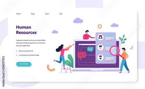 Cuadros en Lienzo Human resources concept. Idea of recruitment and job