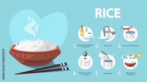 Fotografía How to cook rice an easy recipe