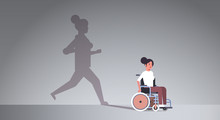 Disabled Girl On Wheelchair Dr...