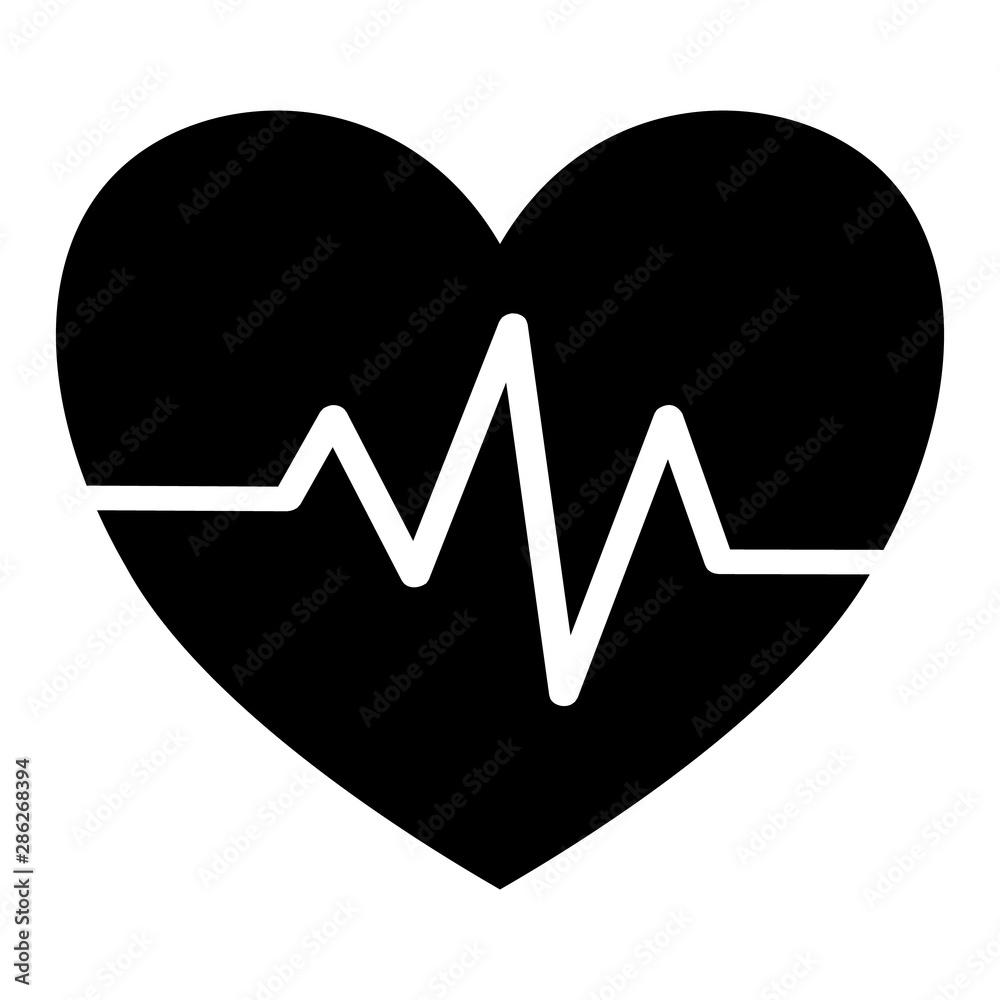 Fototapeta Heart beat icon