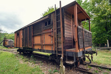 Old Abandoned Wooden Carriage