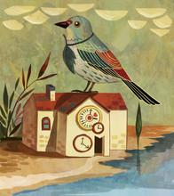Birds, Houses, Fantasies, Illu...