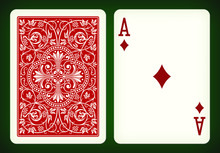 Ace Of Diamonds - Playing Card...
