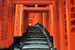 Leinwanddruck Bild - Fushimi Inari taisha thousand shrines in Kyoto Japan