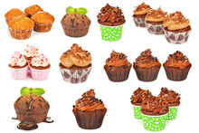 Collage Of Various Cupcakes
