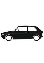 Small Vintage German Vw Volkswagen Golf 1