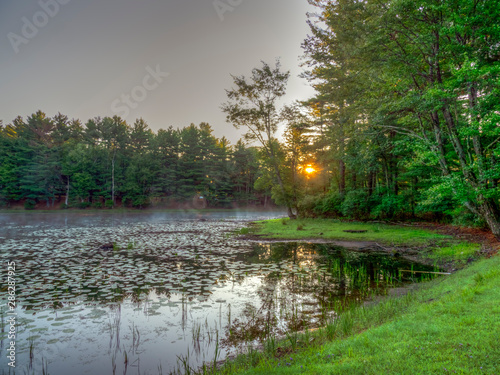 On small pond in Upstate New York Canvas-taulu