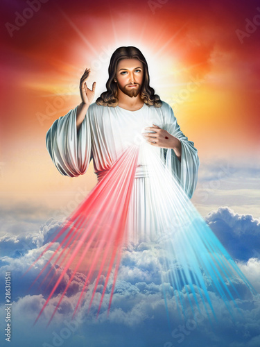 Divine Mercy of Jesus Wallpaper Mural