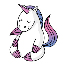 Cute Unicorn Character Who Med...
