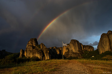 Doppelregenbogen Kalniki Meteora