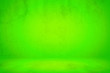 Leinwanddruck Bild - Abstract Grunge UFO Green Concrete Room Background Using for Product Presentation Backdrop.