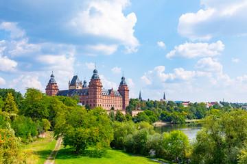 famous city castle in Aschaffenburg