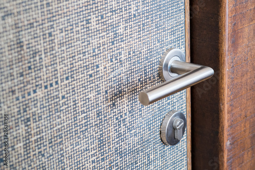 Modern, contemporary satin handle and keyhole detail Canvas Print