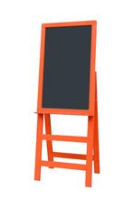 Orange Wooden Menu Board With ...
