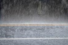 Raining Storm On The Road