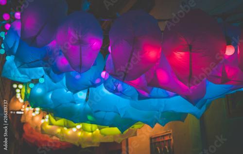 Chinatown design week by night in Bangkok Thailand
