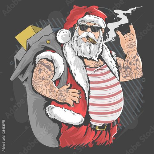 santa-claus-merry-christmas-tattoo-and-cigarette-artwork-vector