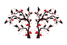 Love Tree With Heart Shaped Le...