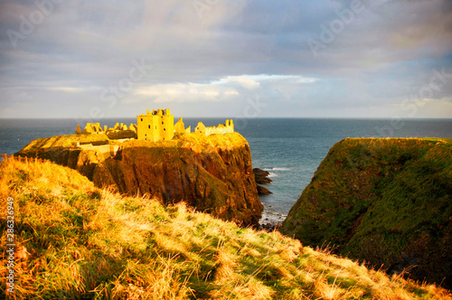 Dunnottar Castle, Scotland, Great Britain, Europe Wallpaper Mural