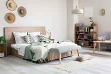 Stylish Interior Of Comfortable Bedroom