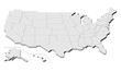 USA map 3D, simple