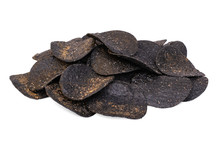Spicy Black Potato Chips With ...