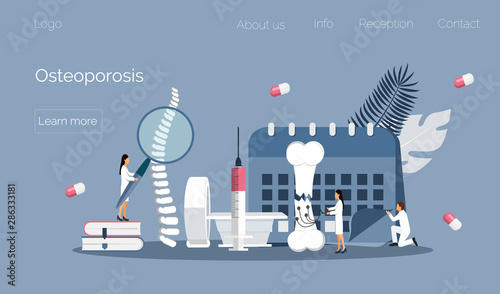 Osteoporosis world day concept, osteoarthritis anatomical vector Canvas-taulu