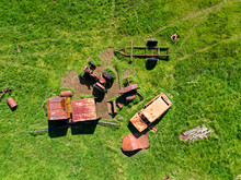 Abandoned Junkyard From Above