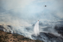 Firefighting Helicopter With B...