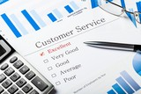 Fototapeta Kawa jest smaczna - Pen, Calculator and Business Graphs on Questionnaire