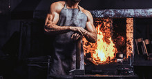 Muscular Blacksmith In Protect...