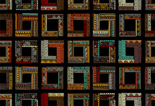 Abstract Ethnic Frames, Seamle...