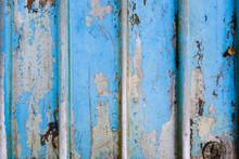 Old Weathered Blue Aluminum Boat