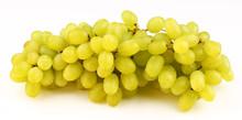 White Grape Sultana Thompson Seedless On A White Background