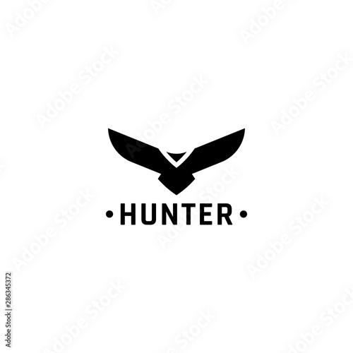 Eagle logo vector design, falcon logotype template, hawk illustration Wallpaper Mural