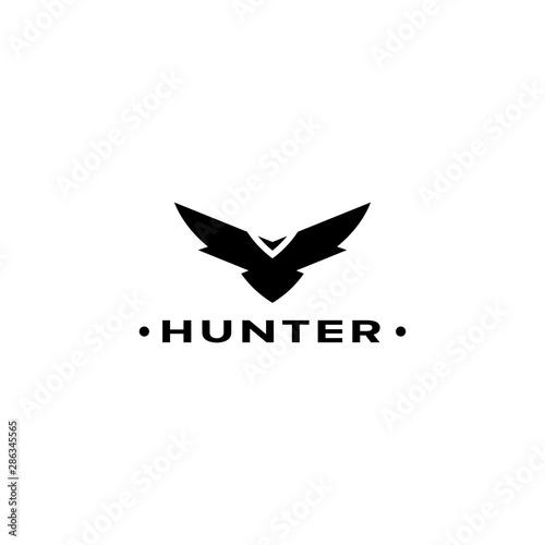 Valokuvatapetti Eagle logo vector design, falcon logotype template, hawk illustration
