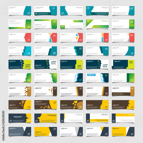 Fototapeta Mega collection of 50 abstract banners.modern template design for web obraz