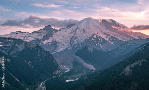 Mt Rainier National Park At Sunrise Wallpaper Mural
