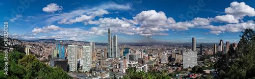 panoramic of city with sky Wallpaper Mural